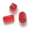 Glass Bead Prism 10x6mm Siam Ruby Strung